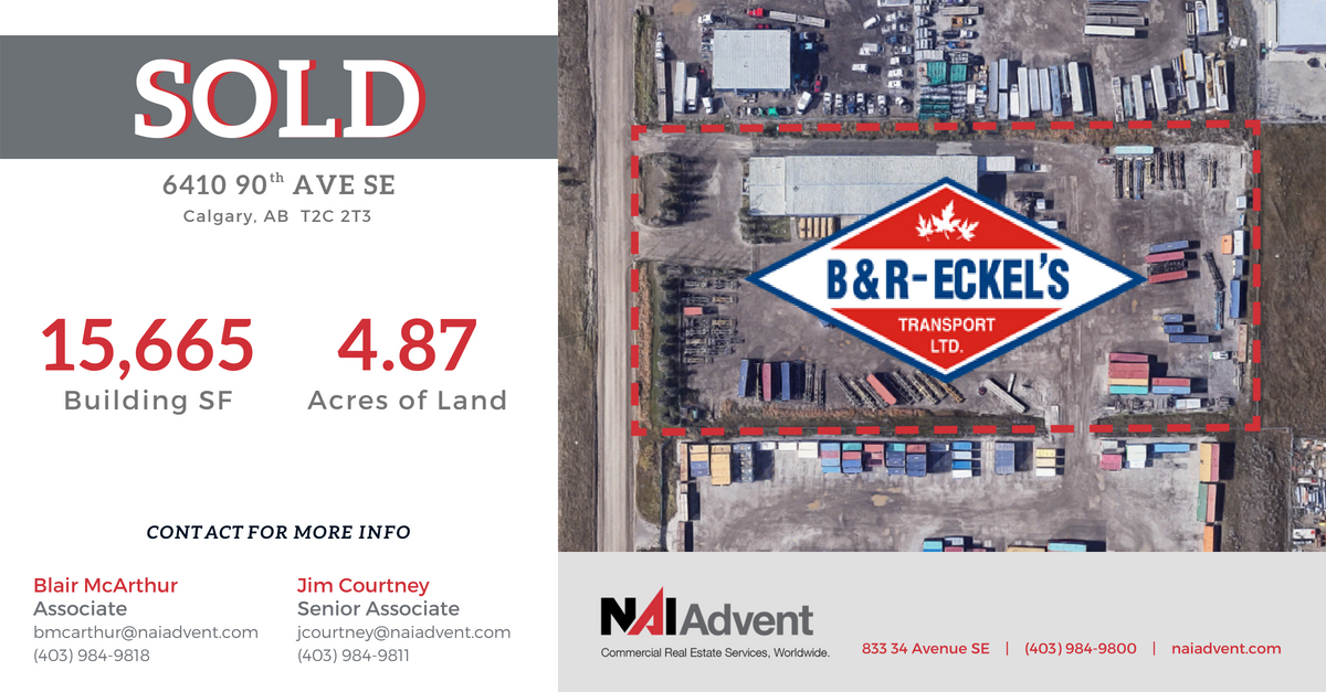 NAI Advent Negotiates $4.60 Million Sale of Industrial Building & Yard