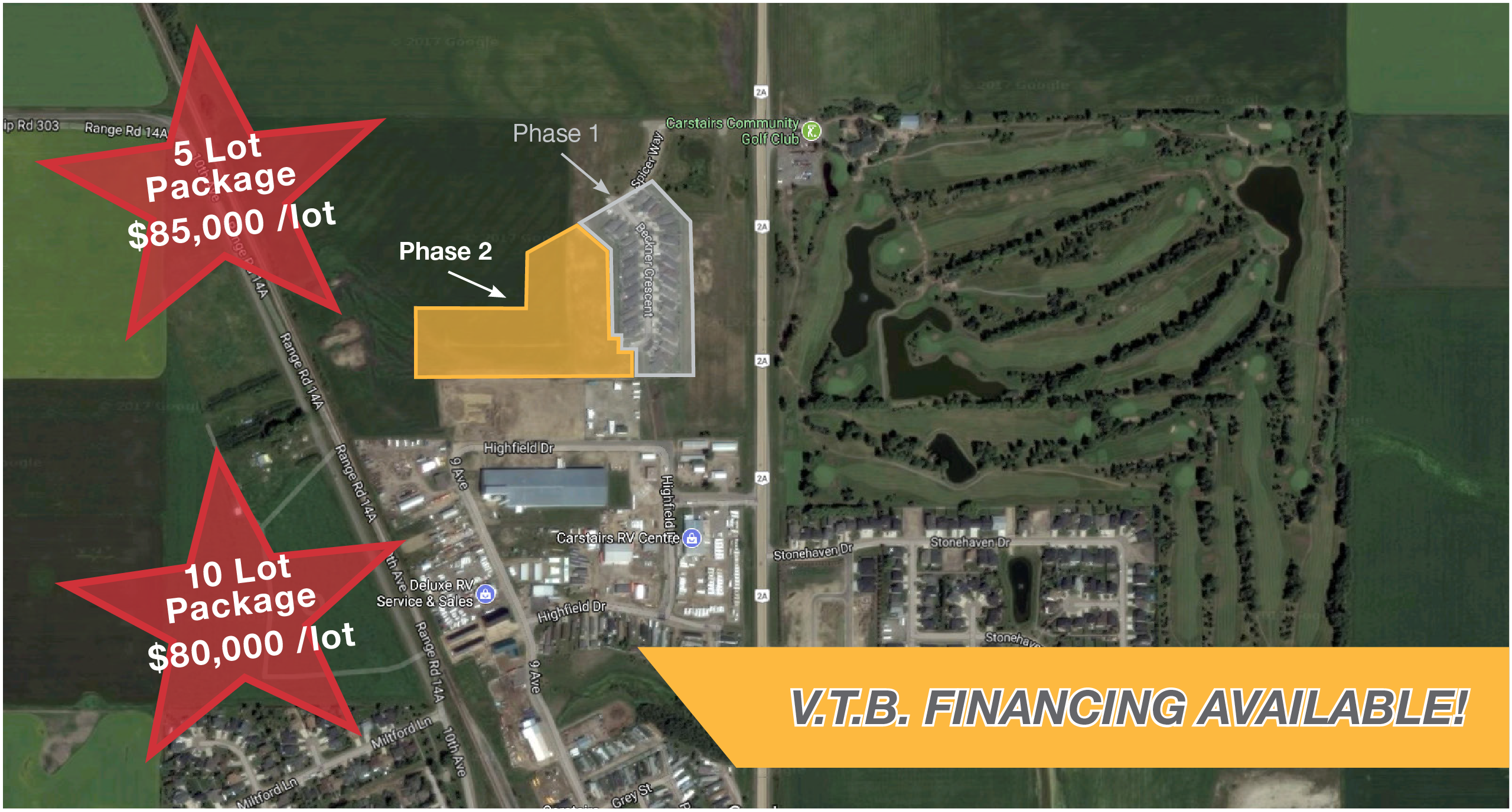 For Sale: Residential Land for Sale - 40 Lot Parcel (Carstairs, AB)